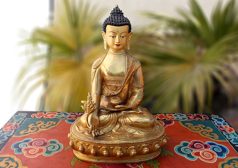 One of a Kind 13 Inch Healing Buddha Statue BST307 - nepacrafts