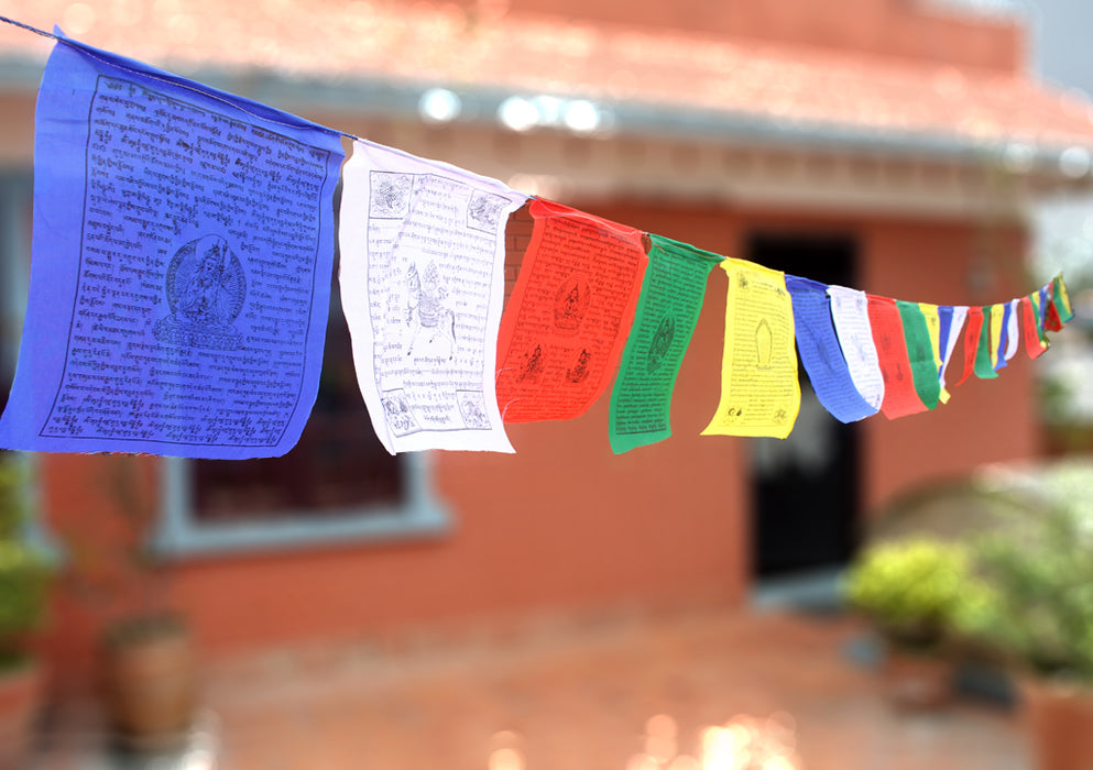25 Sheets of Tibetan Kalachakra and Mixed Deities Prayer Flag - nepacrafts