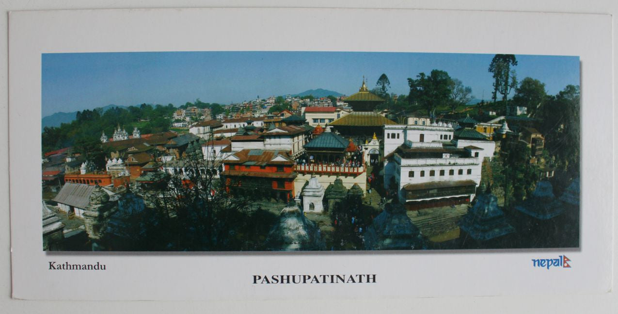 A Sacred Hindu Shrine Pashupatinath Panoramic Postcard - nepacrafts