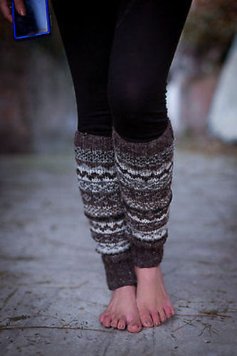 Natural Color Woolen Legwarmers