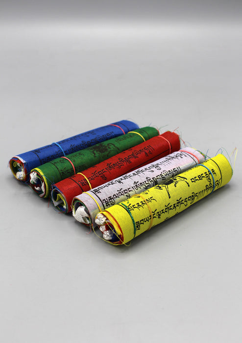 Five Rolls of Polyester Windhorse Prayer Flags