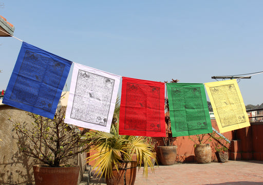 Extra Large Windhorse Prayer Flags-Gyaltsen Tsemo Victory Banner