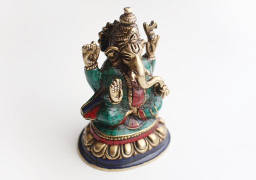 The Lord of Beginning Hindu Deity Ganesha Brass Statue from Nepal - nepacrafts