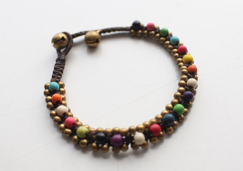 Multicolor Glass Beads Handwoven Teen Anklet - nepacrafts