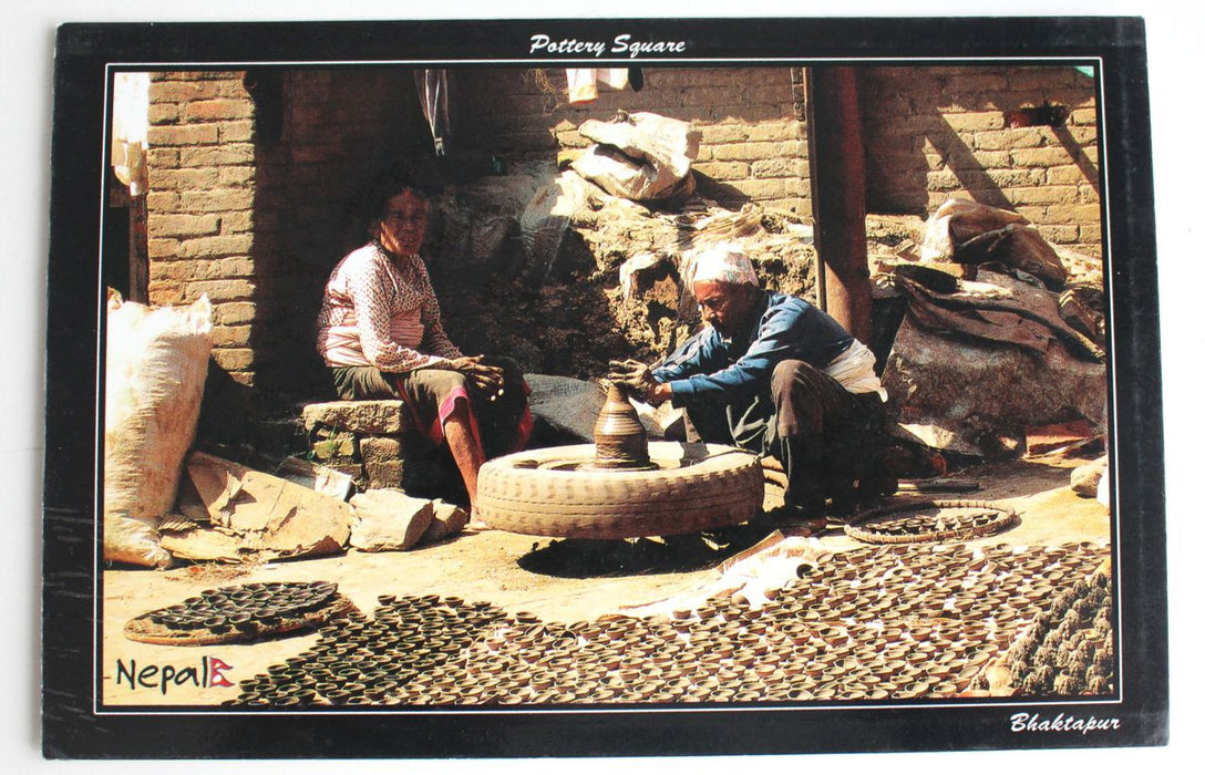 The Pottery Square Nepal Postcard - nepacrafts