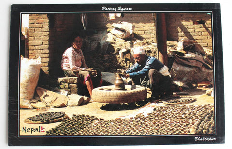 The Pottery Square Nepal Postcard