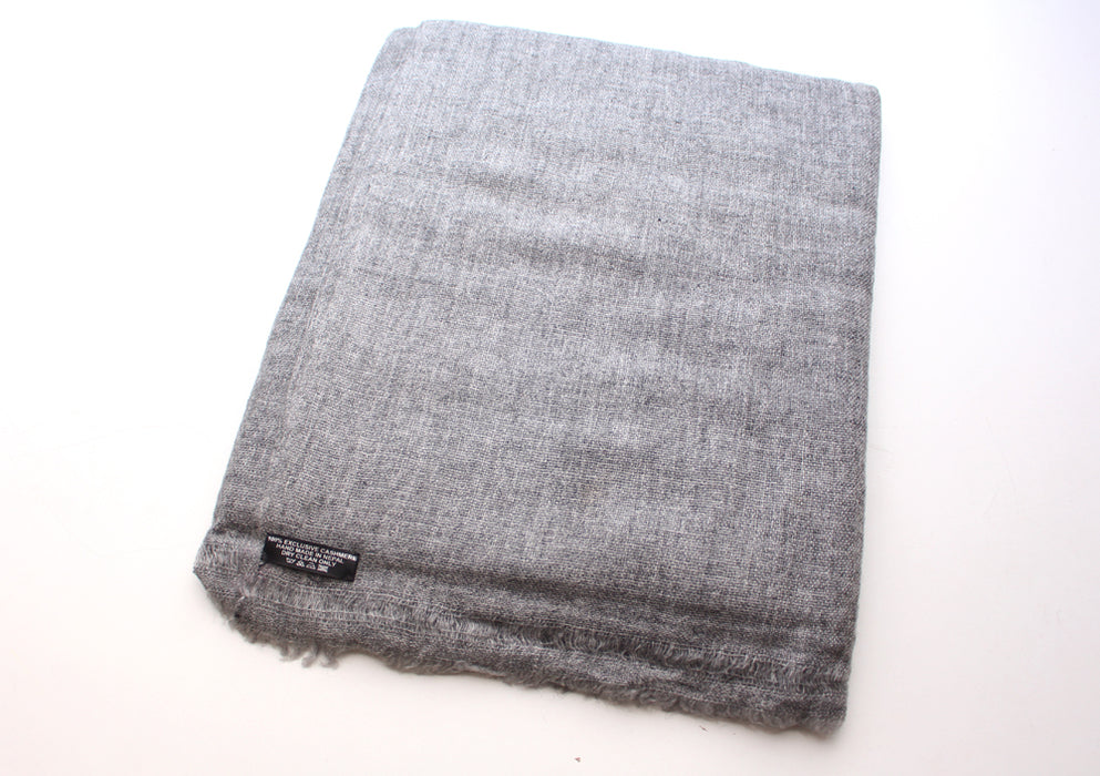 Light Gray 100% Cashmere Blanket - nepacrafts