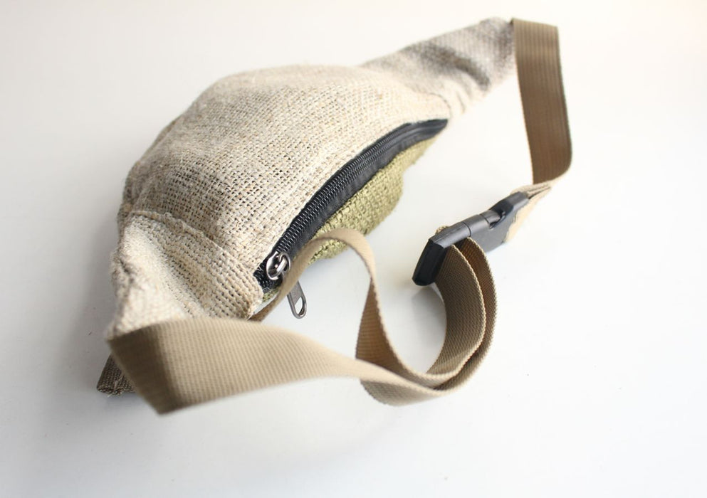 Earthy Hemp Fanny Pack, Waist Utility Belt - nepacrafts