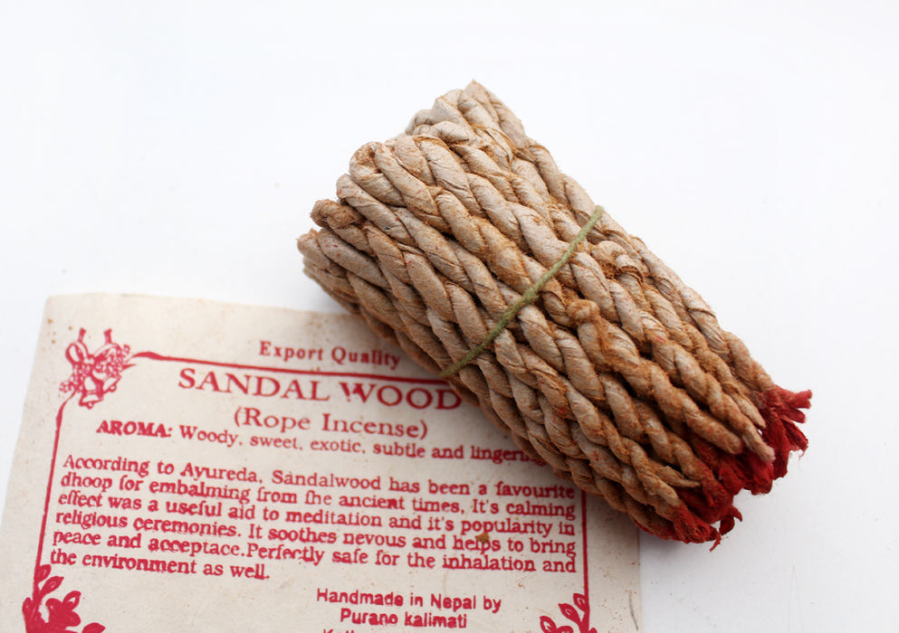 Sandalwood Rope Incense-Pack of 6