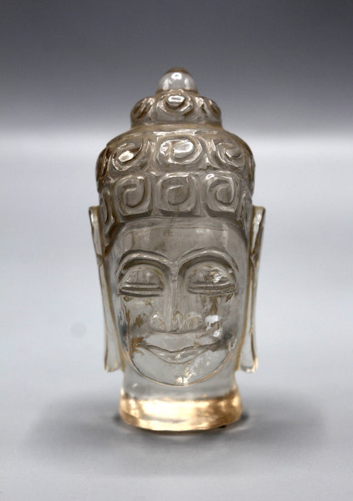 Fine Carving Crystal Buddha Head Statue