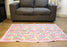 Light Pink with Diamond Pattern Printed Felt Floor Mat - nepacrafts