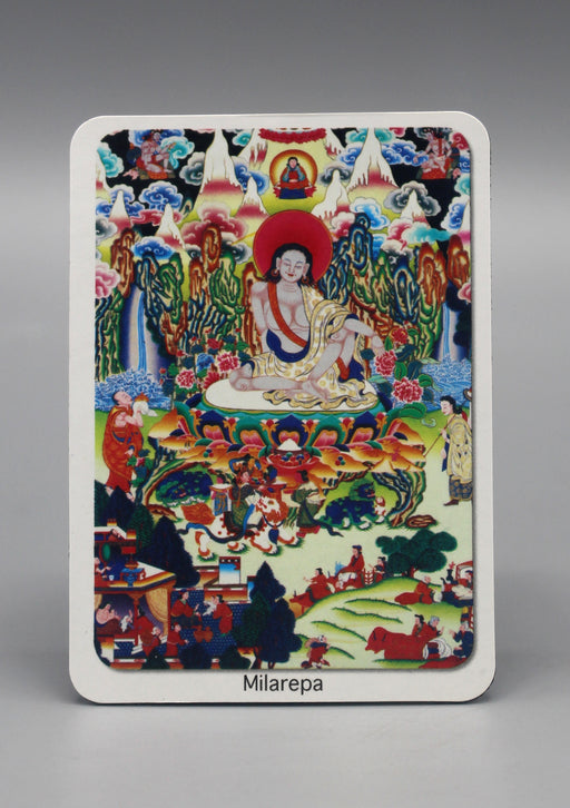 Rectangular Milarepa Fridge Magnet - nepacrafts