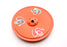 Om Painted Orange Round Wooden Incense Burner - nepacrafts