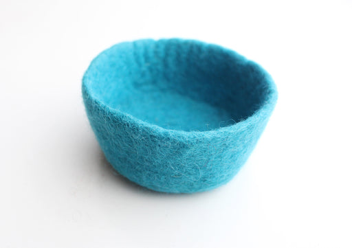 "Handfelted Colorful Felt Bowls 4.5"" For Keeping Jewelry, Watches and Smaller Items - nepacrafts"