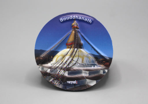 Bouddhanath Stupa Embossed Fridge Magnet - nepacrafts
