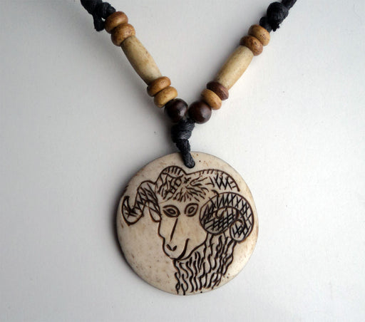 Handcrafted Bone Pendants Necklace-Capricorn - nepacrafts