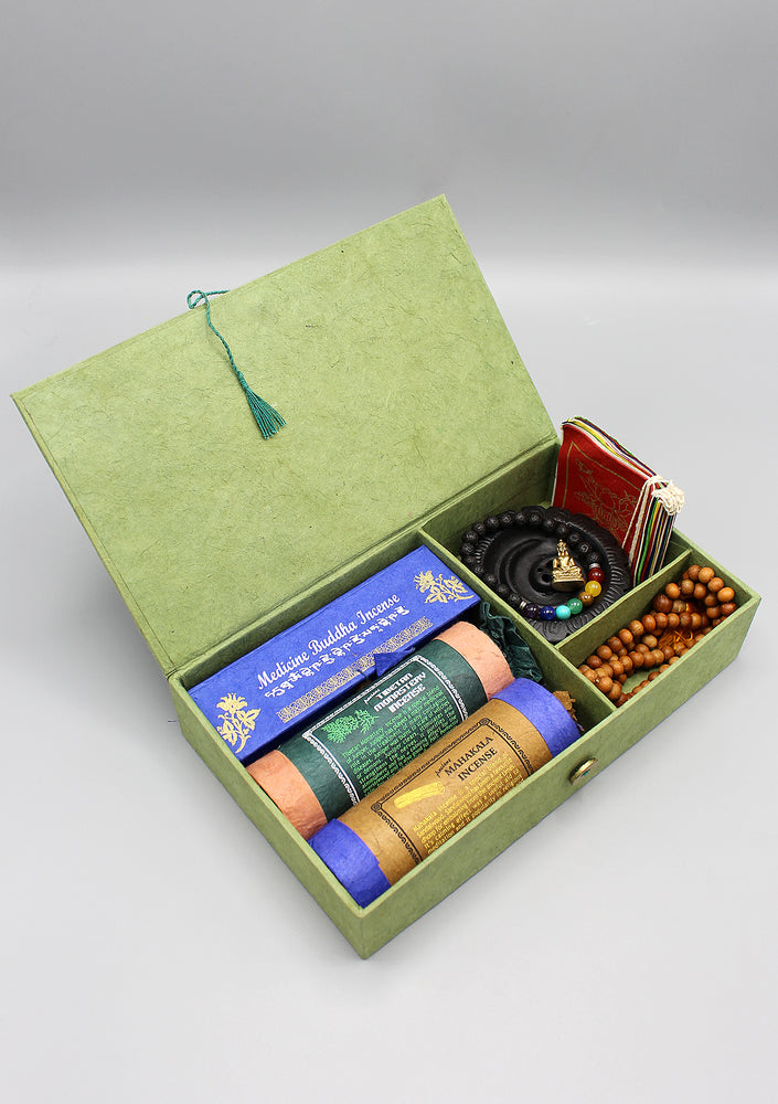 Tibetan Incense and Prayer Flags Zen Gift Box