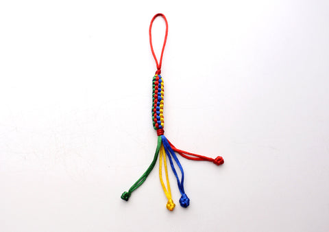 Hand Knotted Colorful Hanging Decor, Car Hanging Amulet - NepaCrafts