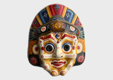 Mahakala Nepalese Handmade Wall Decor Paper Mache Mask