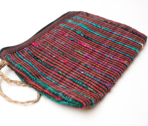 Handloomed Cotton Clutch Purse - nepacrafts