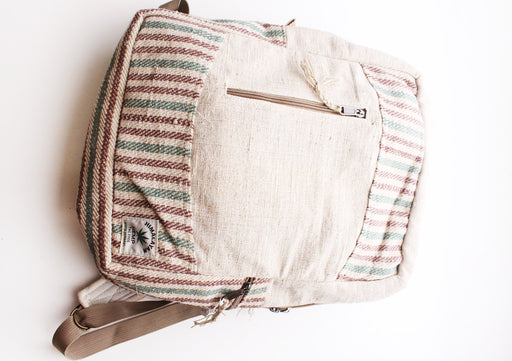 Handmade 100% Natural and Eco Friendly Hemp Backpack with Laptop Sleeve - NepaCrafts