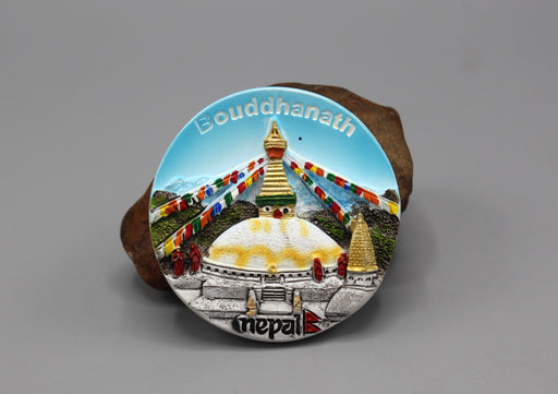Bouddhanath Painted Ceramic Fridge Magnet - nepacrafts