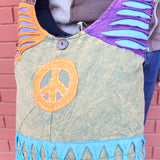 Cotton Patchwork Peace Hippie Bag, Jogi Side Carry Bag - NepaCrafts