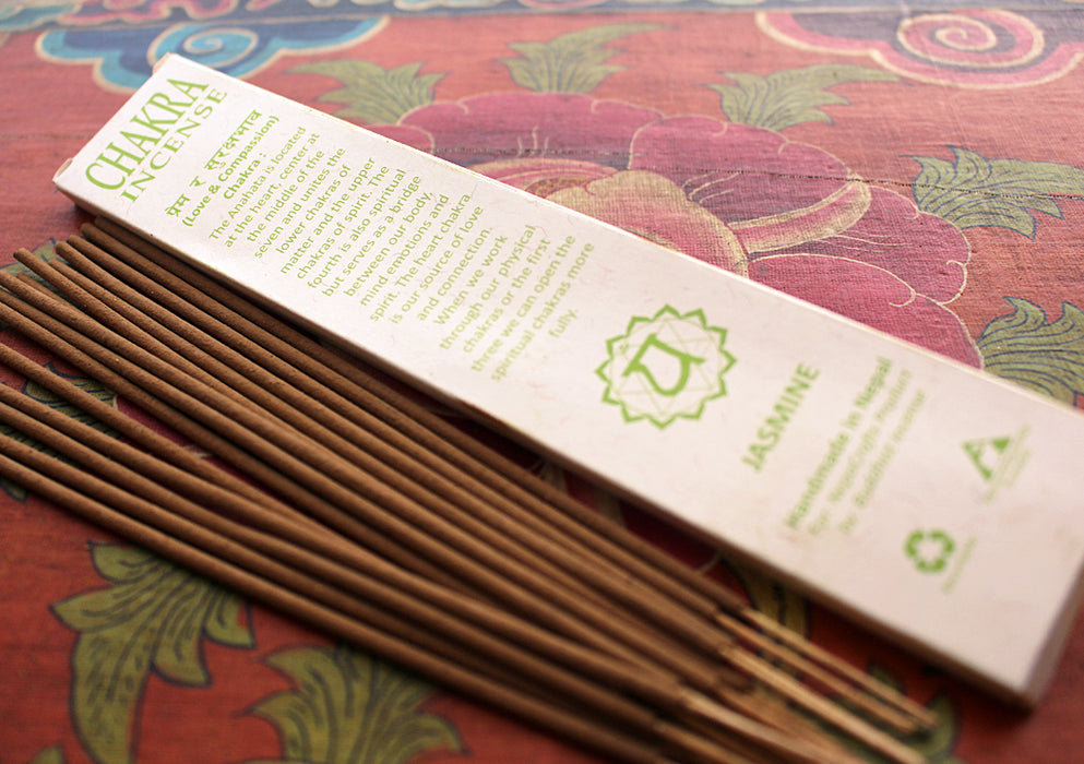 NepaCrafts Premium Jasmine Heart Chakra Incense Sticks - nepacrafts