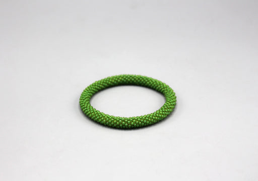 Light Green Glass Beads Roll on Bracelet - nepacrafts