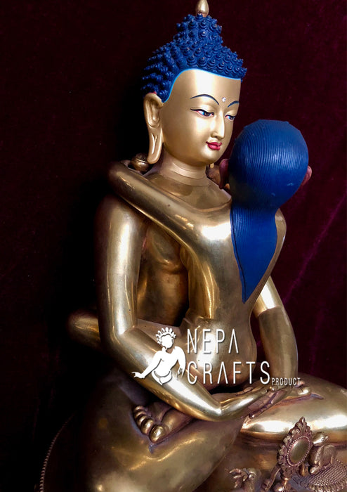 Masterpiece High Quality Samantabhadra Statue - nepacrafts
