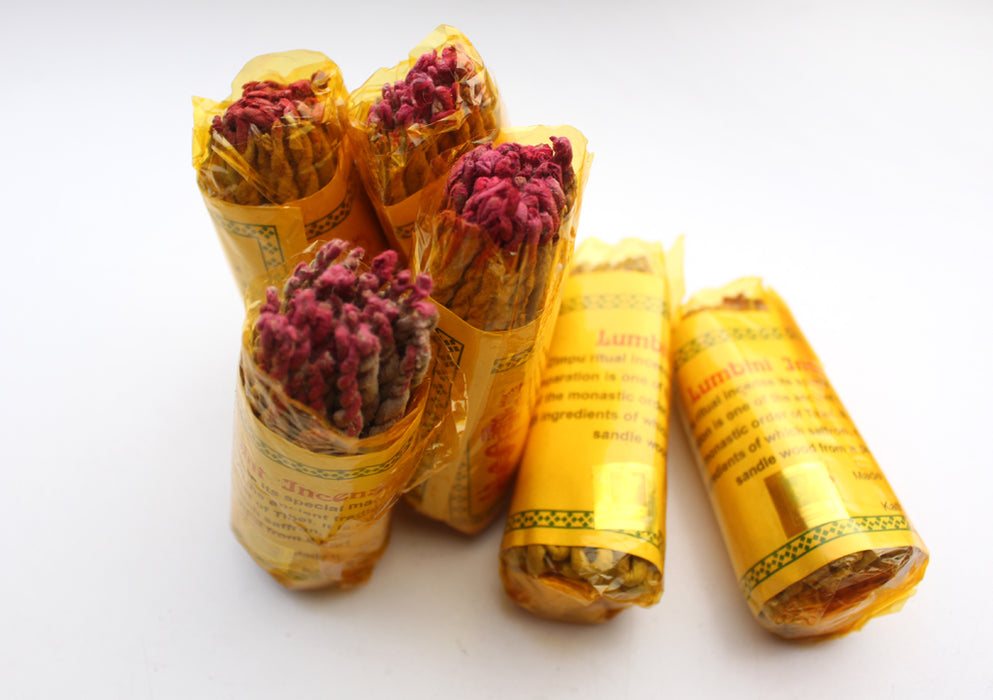 Lumbini Herbal Rope Incense -Set of 6 - nepacrafts
