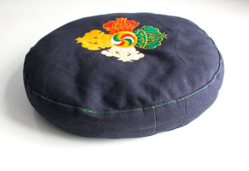 Double Dorjee Embroidered Round Meditation Cushion
