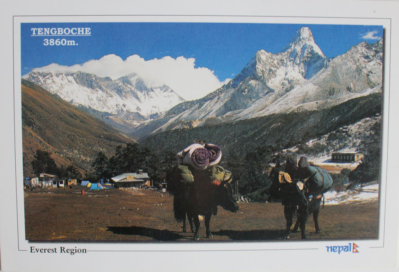 Mount Ama Dablam of Nepal Postcard - nepacrafts