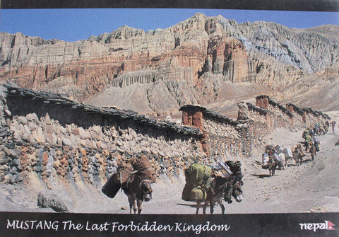 A Facinating View of Mustang Postcard-The Last Forbidden Kingdom