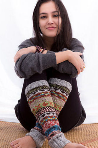 Handknit Grey Wool Leg Warmers