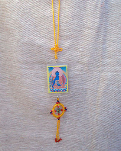 Healing Buddha Car Hanging Protection Amulet - nepacrafts