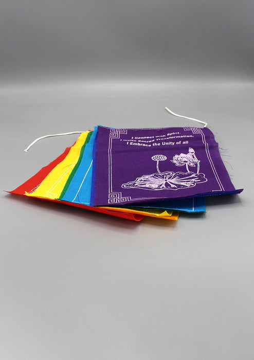 Tibetan Healing Prayer Flags  Roll with Spiritual Messages