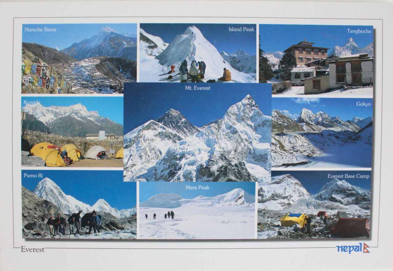The Trail of Everest Nepal Postcard - nepacrafts