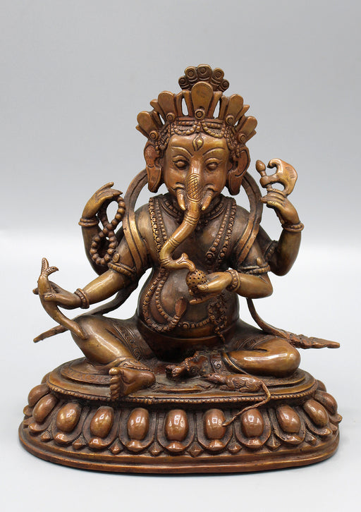 Four Armed Ganesha Seated Statue