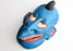 Blue Face Painted Wooden Wall Hanging Joker Mask - nepacrafts