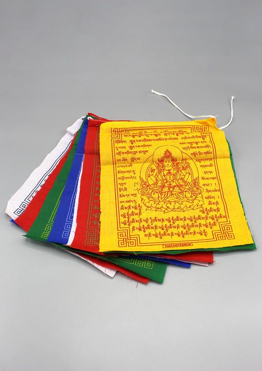 Chenrezig Compassion Tibetan Prayer Flags Set