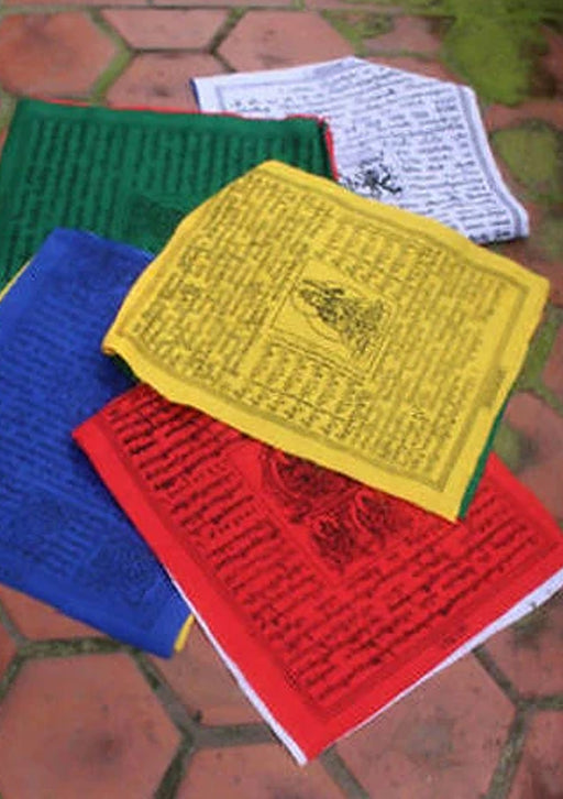 5 Rolls of Large Cotton Tibetan Prayer Flag