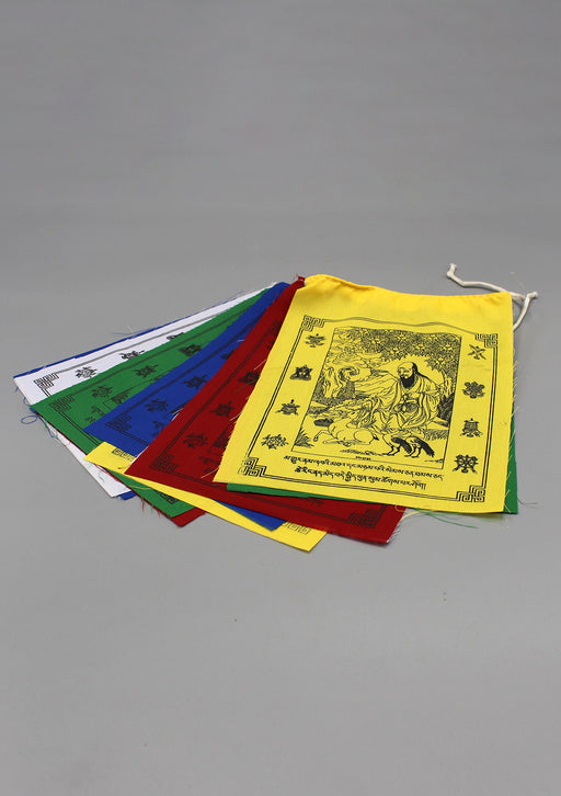 Long Life Symbol Cotton Prayer Flag, Tibetan Prayer Flag