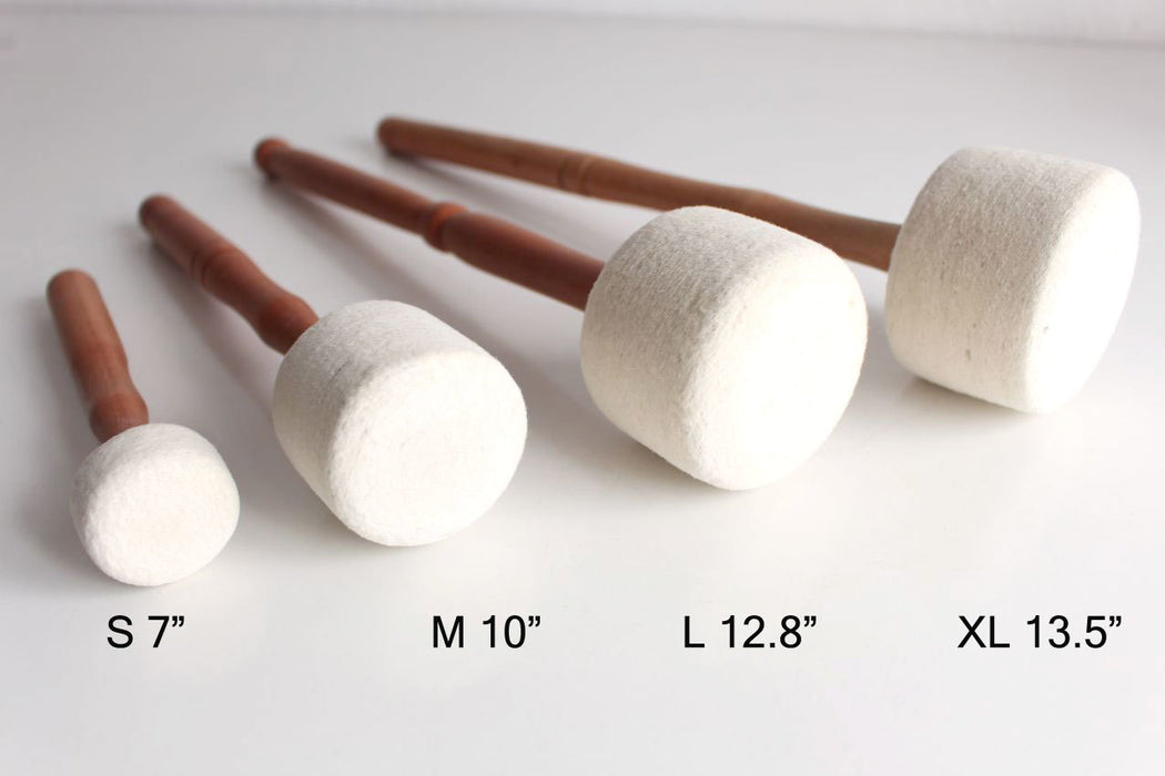 White Felt Drum Sticks for Singing Bowls
