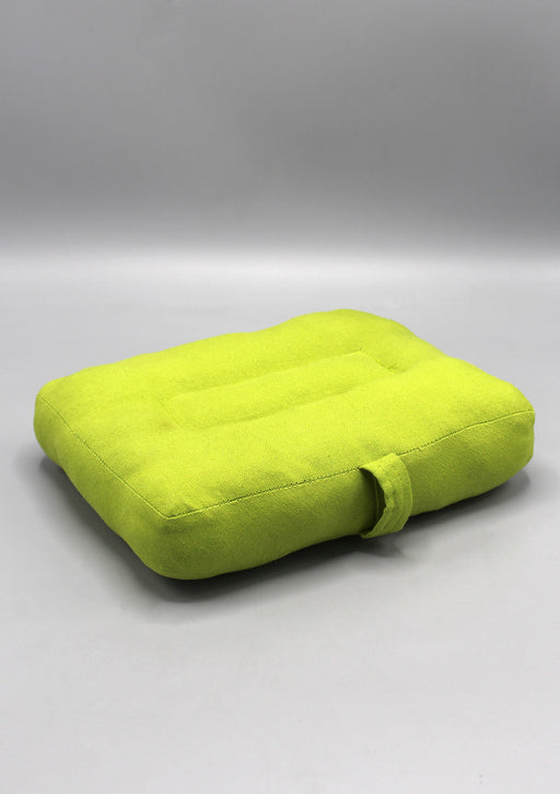 Parrot Green Cotton Meditation Cushion