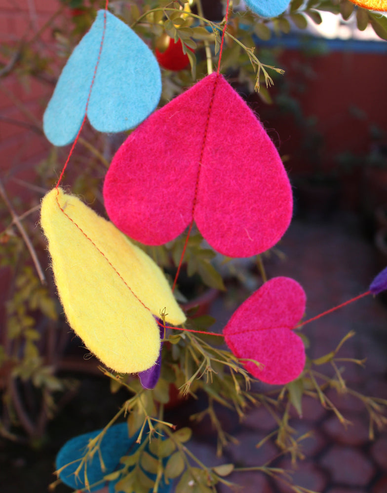 Felt Hanging Big Heart Ceiling Hanging Decor - nepacrafts