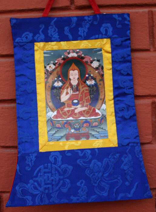 Tibetan Deities Photo Brocade Banner - nepacrafts