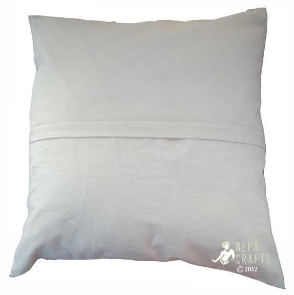 The Dharma Chakra Cotton Pillow Covers - nepacrafts