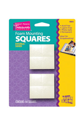 16016 - Front Porch Treasures Foam Mounting Squares (64pk)