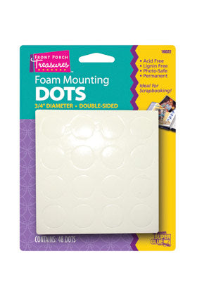 16022 - Front Porch Treasures Large Foam Mounting Dots (48pk)